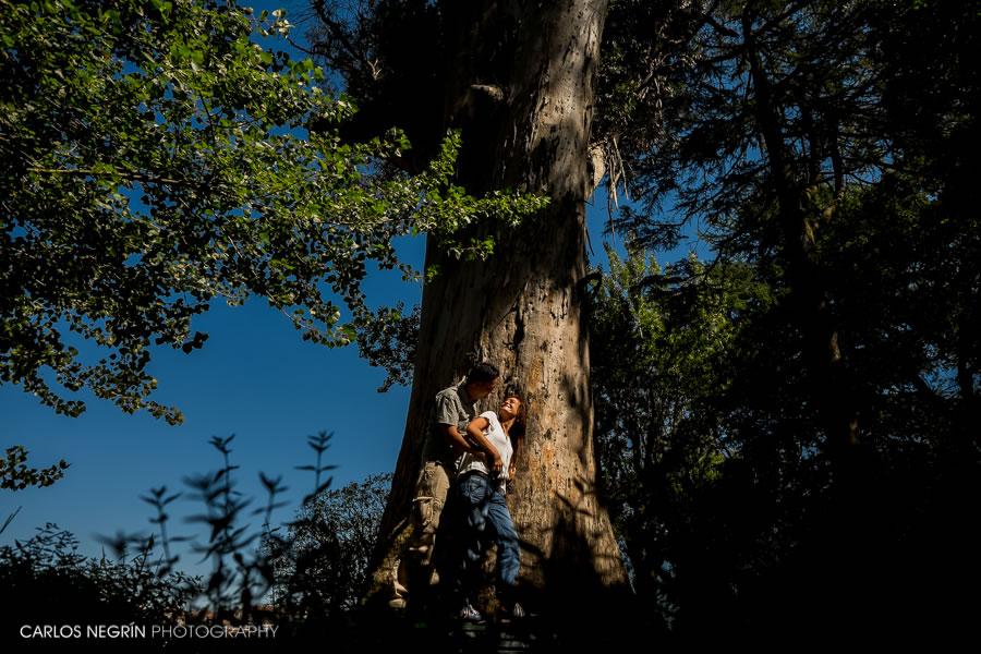 preboda en Santiago, árbol de los enamorados, fotógrafo de bodas, Carlos Negrín Photography, L+M
