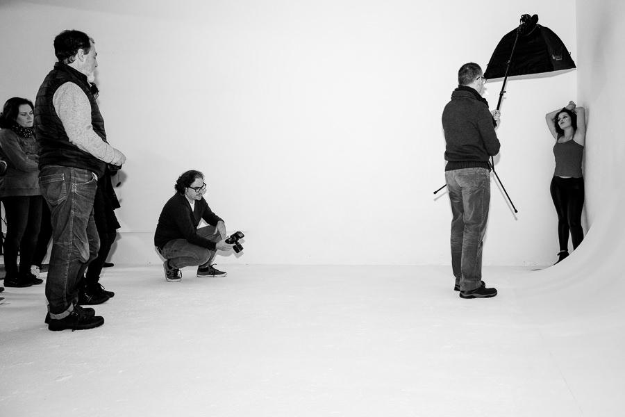 Taller de iluminación y retrato en A Coruña, escuela de fotografía, Carlos Negrín