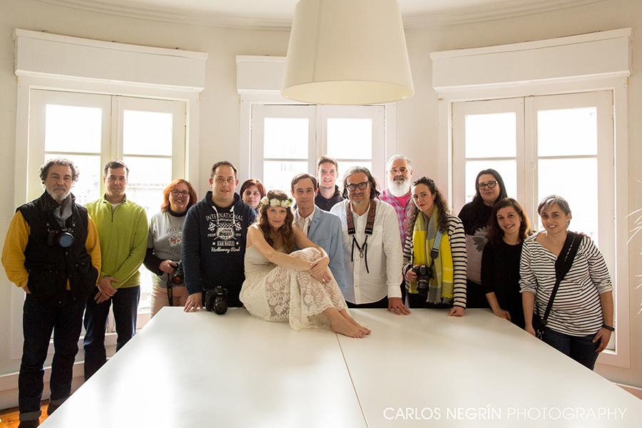 asistentes al taller de fotografía de boda, Carlos Negrín