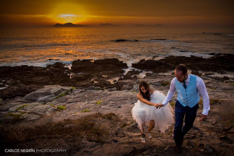 postboda playa, fotógrafo en Coruña, Carlos Negrín Photography Y+A