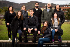 fotógrafos asistentes al taller de fotografía